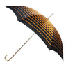 Pasotti Gold and Black Striped Umbrella with Gold Bejeweled handle
