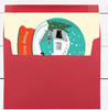 Holiday Snow Globe Vintage Turquoise Camper Cards Set of 10