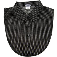 Black and White Polka Dot Dickey Collar