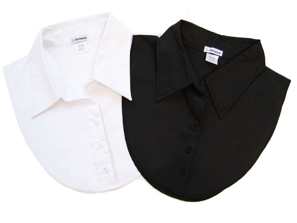 2-Pack Black and White Dickey Collars