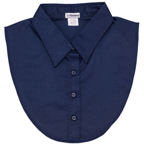 Navy Blue Dickey Collar