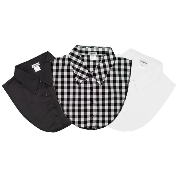 3-Pack Preppy Collection - White, Black, Gingham Plaid