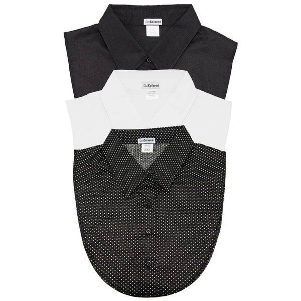 3-Pack Classic Collection: White, Black, B&W Polka Dot