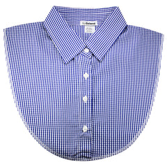 Copy of Women's Detachable Dickey Collar - Blue and White Check