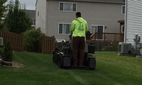 doing lawn aeration