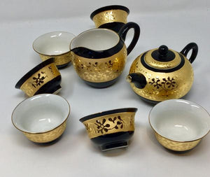 Gorgeous Stunning Golden print Porcelain tea set 03