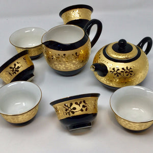 Gorgeous Stunning Golden print Porcelain tea set 01