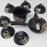 Japanese Style Wooden Handle Claypot set 01