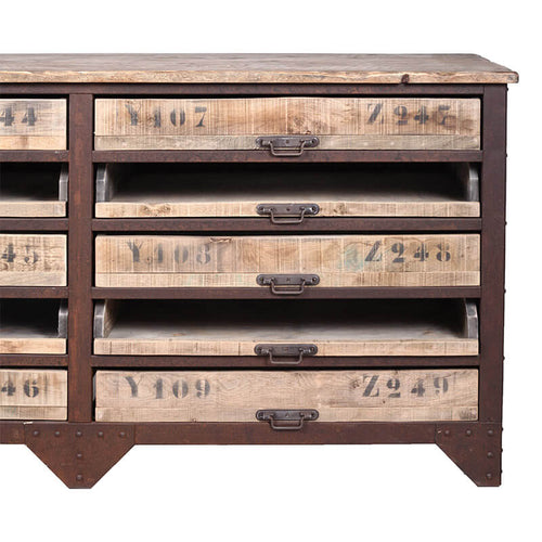 Industrial 15 Drawer Counter Cabinet by Bobo Intriguing Objects