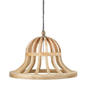 Wooden Bell Chandelier by Bobo Intriguing Objects