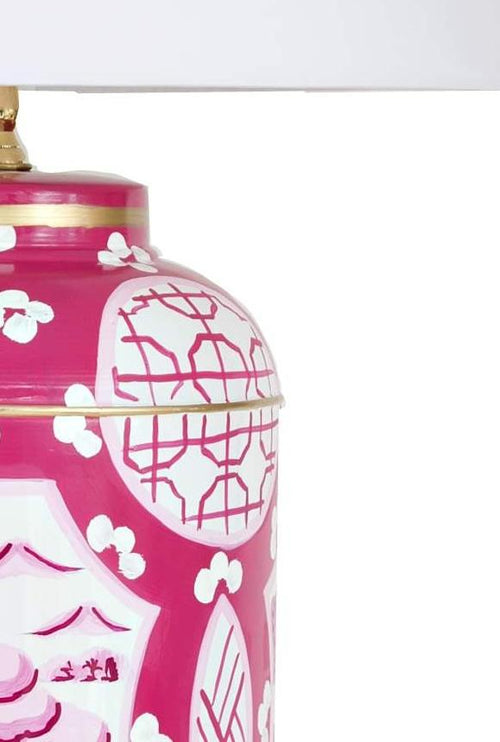 Dana Gibson Small Canton Table Lamp, Pink