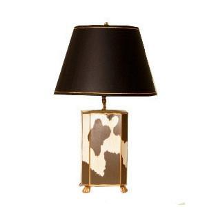 Cowhide Lamp by Dana Gibson