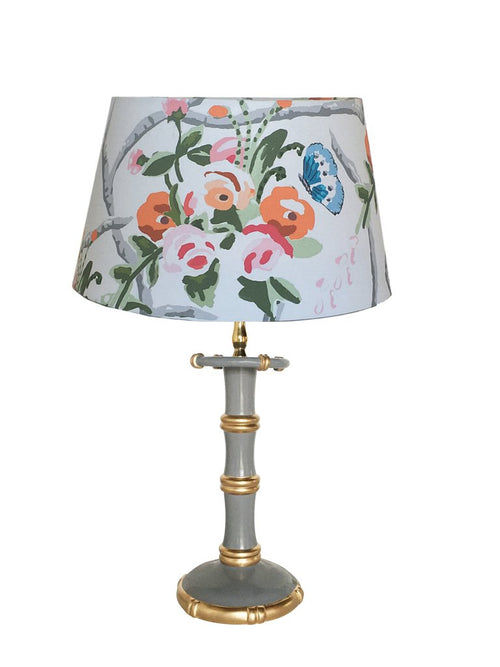 Dana Gibson Candlestick Lamp in Gray