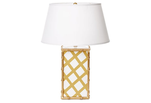 Dana Gibson Lattice Patterned Bamboo Lamp