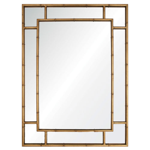 Mirror Image Home Gold Leaf Bamboo, Iron Mirror SKU: 20256