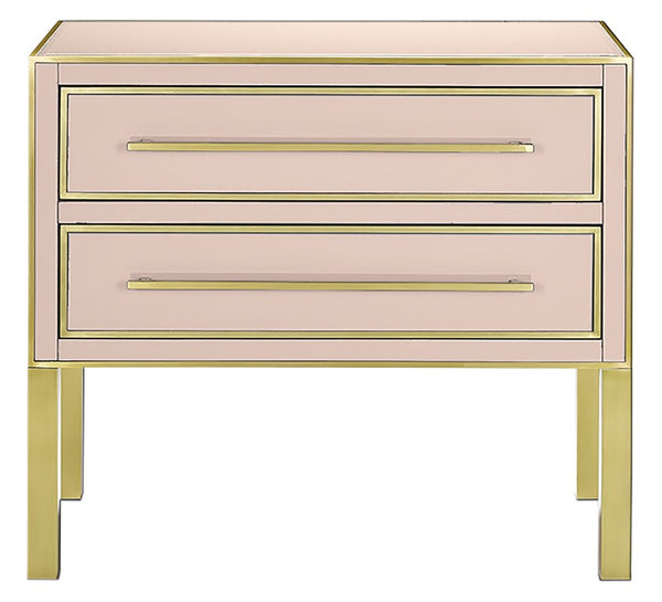 Currey and Company Arden Pink Chest