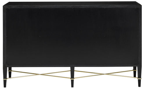 Currey and Company Verona Black Lacquer Sideboard