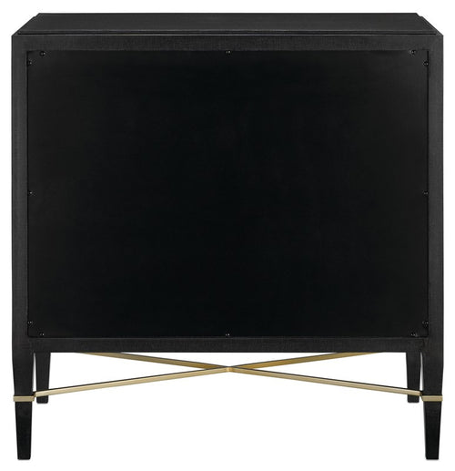 Verona Chest in Black Lacquer by Currey and Company