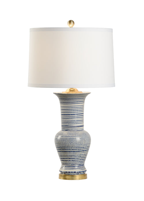 Chelsea House Beehive Urn Striped Lamp