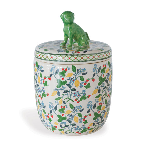 Madcap Cottage by Port 68 Crewel Summer Jar in Green/Multi