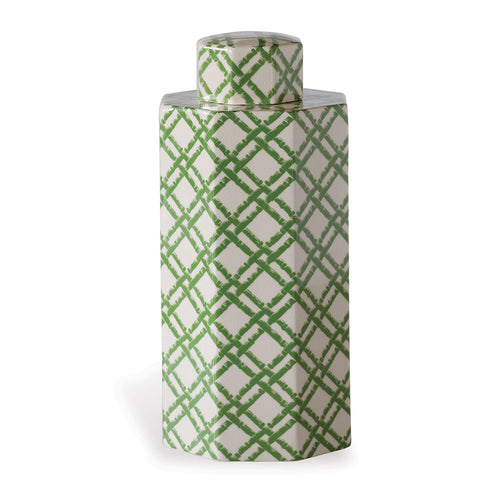 Williamsburg for Port 68 Bamboo Trellis Jar in Green