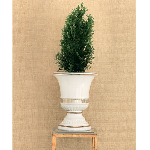 Port 68 Palace Fret Urn in Gold/White
