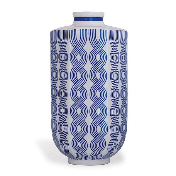 Williamsburg for Port 68 Evelyn Blue Vase, Size Large