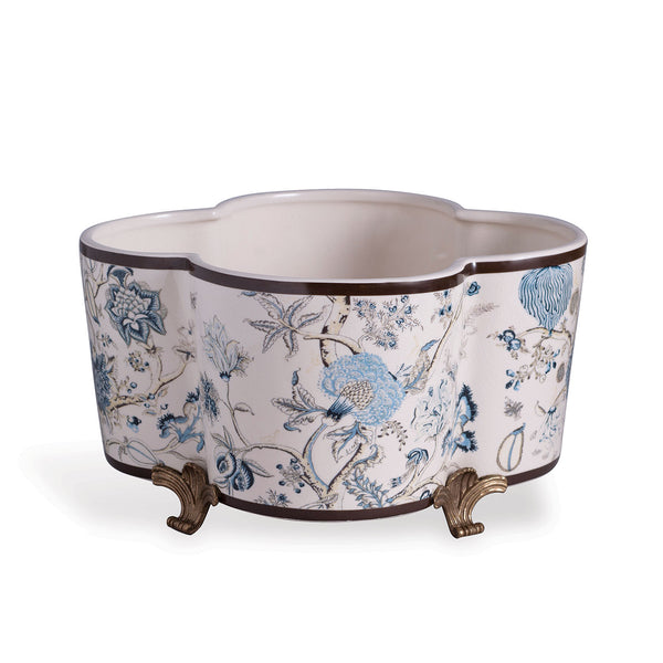 Scalamandre for Port 68 Pondicherry Quatrefoil Planter