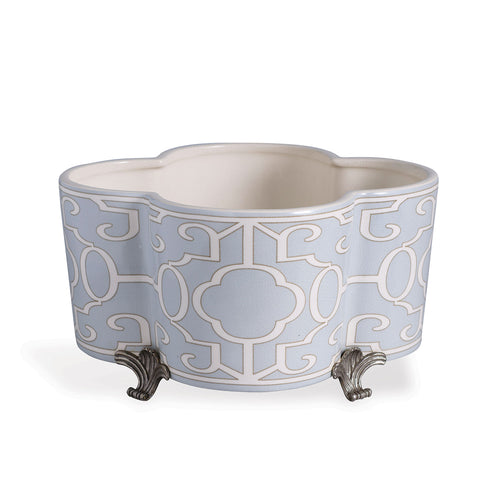 Scalamandre for Port 68 Ming Fretwork Quatrefoil Planter