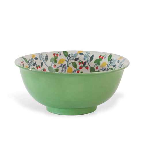 Port 68 Crewel Summer Green Bowl