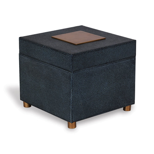 "PORT 68 10"" Cairo Faux-Shagreen Box, Grey"