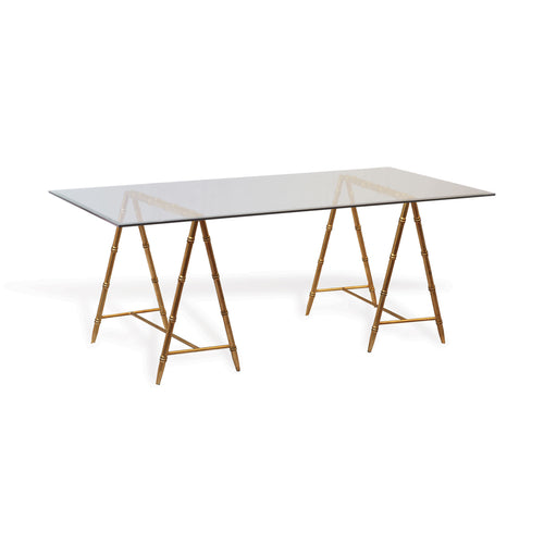 Port 68 Baldwin Bamboo and Glass Table