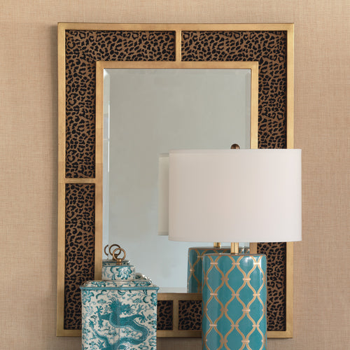 Port 68 Bedford Wild Leopard Mirror in Silver