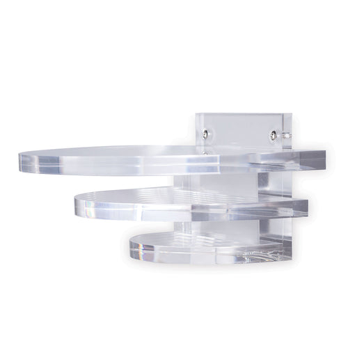 Port 68 Deco Square Clear Lucite Shelf