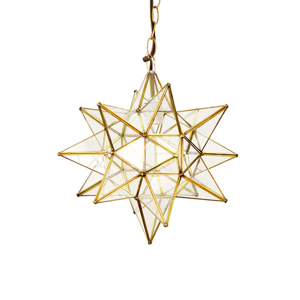 Worlds Away Star Chandelier in Brass