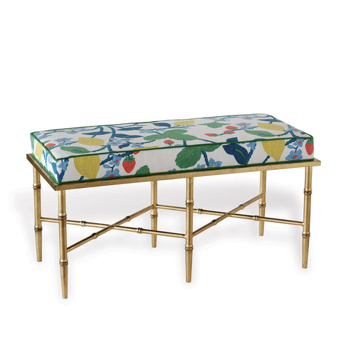 Port 68 Doheny Gold Double Crewel Summer Bench