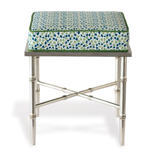 Port 68 Doheny Bench with Madcap Cottage Howards End Fabric