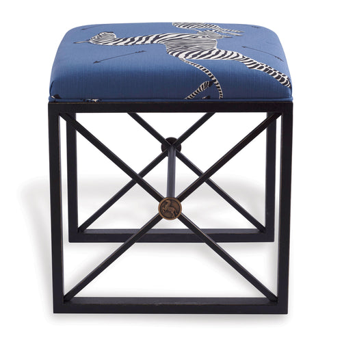Port 68 Medallion Bench, Blue Zebra