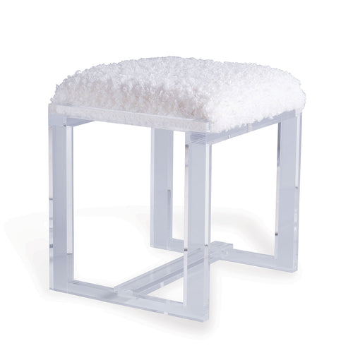 Glencoe Lucite Bench in Silver by Port 68