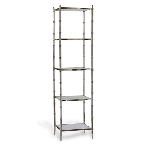 Port 68 Doheny Etagere in Polished Nickel