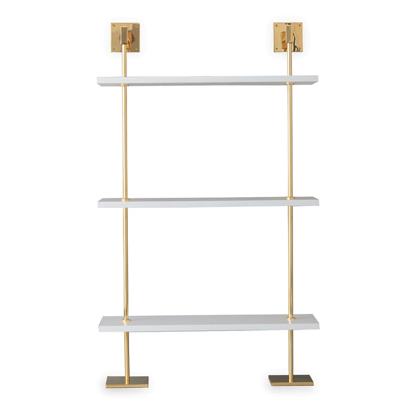 Marais 3-Tier White and Gold Shelf by Port 68