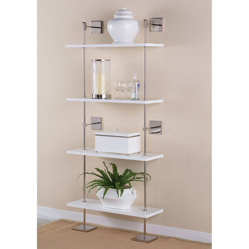 Marais 3 Tier White and Nickel Shelf by Port 68