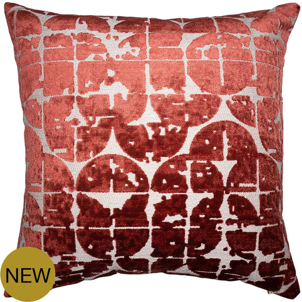 Aman Red Pillow by Square Feathers