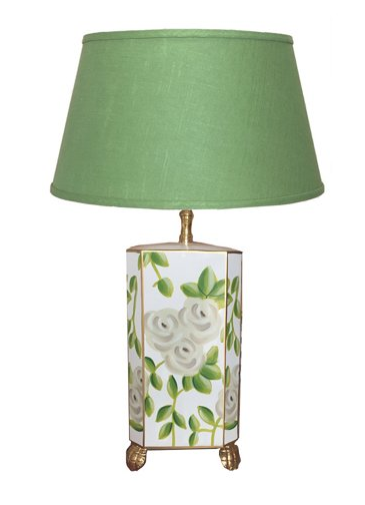 Dana Gibson Chintz Table Lamp in Green