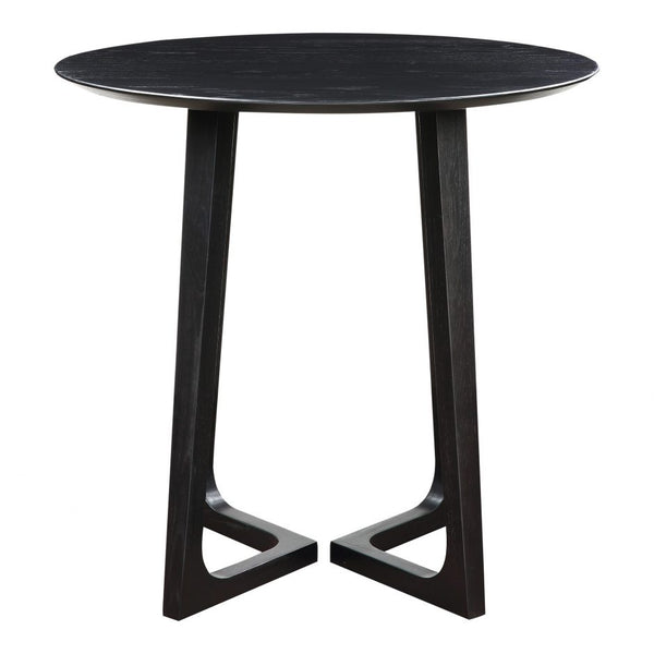 Moes Godenza Bar Table Black Ash