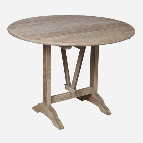 Bobo Intriguing Objects Bordeaux Wine Tasting Table in Reclaimed Elm