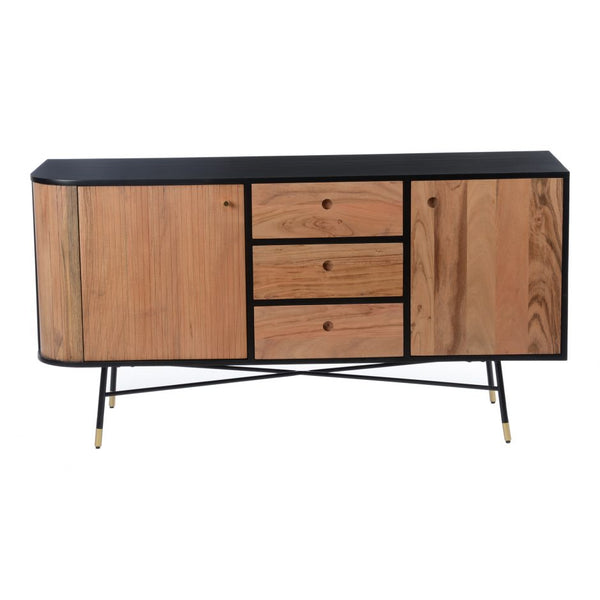 Moes Black And Tan Sideboard