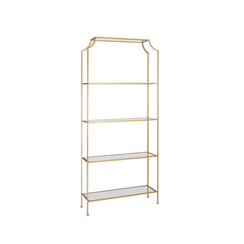Worlds Away Chloe Etagere in Gold
