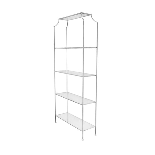 Worlds Away Chloe Etagere in Silver