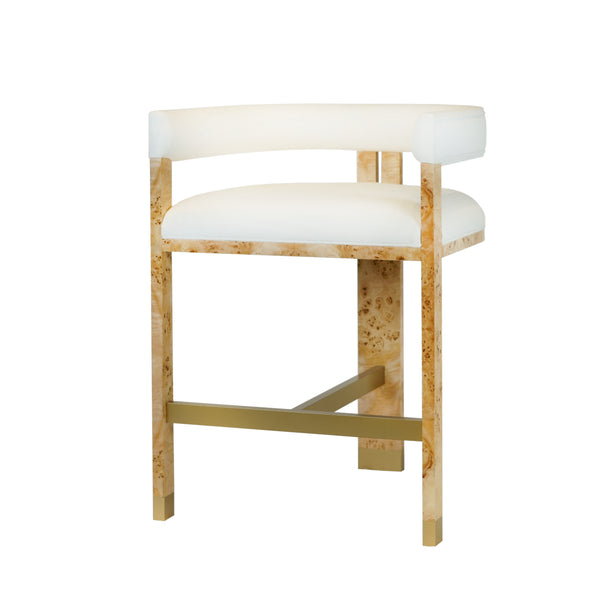 Worlds Away Cruise Counter Stool in Burl Wood
